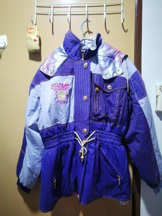 Winter Jacket purple colour