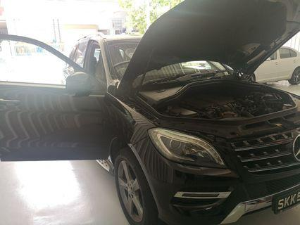 Mercedes Benz ML350 Exhaust cleaning done!