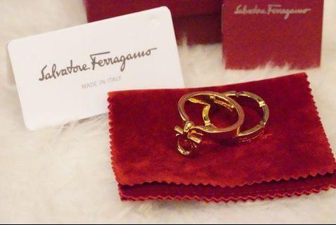 Authentic Salvatore Ferragamo Scarf Ring