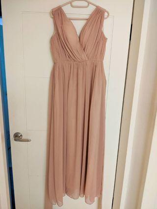 粉色伴娘服/晚禮服