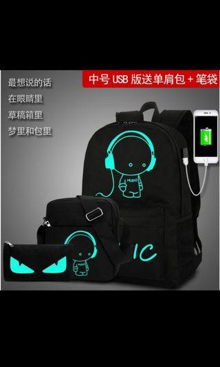 USB充電防盜款後背包