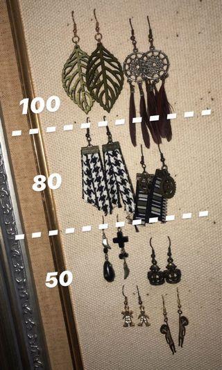 二手 | 各式耳環(價錢在圖片上)