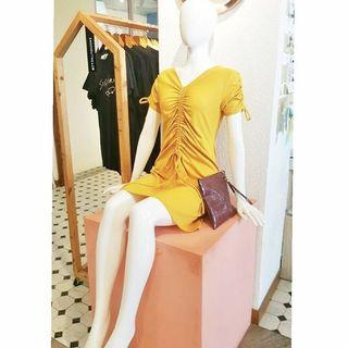 Lightxsalt Yellow Frances Knit Dress