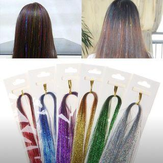 Cosplay Hair Highlighter Glitter Wig Accessories Futuristic (Silver Only)