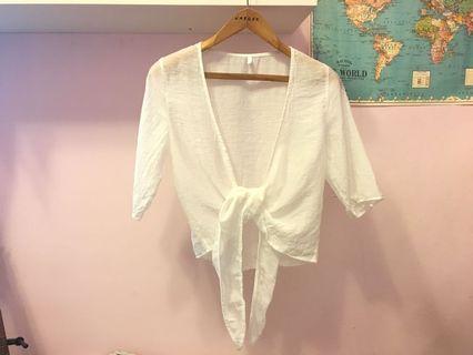 白色襯衫長袖罩衫 襯衫罩衫 棉麻襯衫罩衫