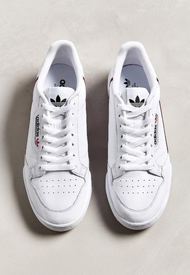 *LOWERED PRICE* Adidas Continental 80 White Sneakers