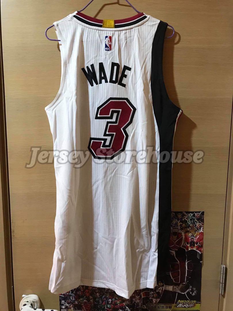 wholesale dealer 87560 b63e2 Adidas NBA Dwyane Wade Miami Heat Legacy Authentic Jersey ...
