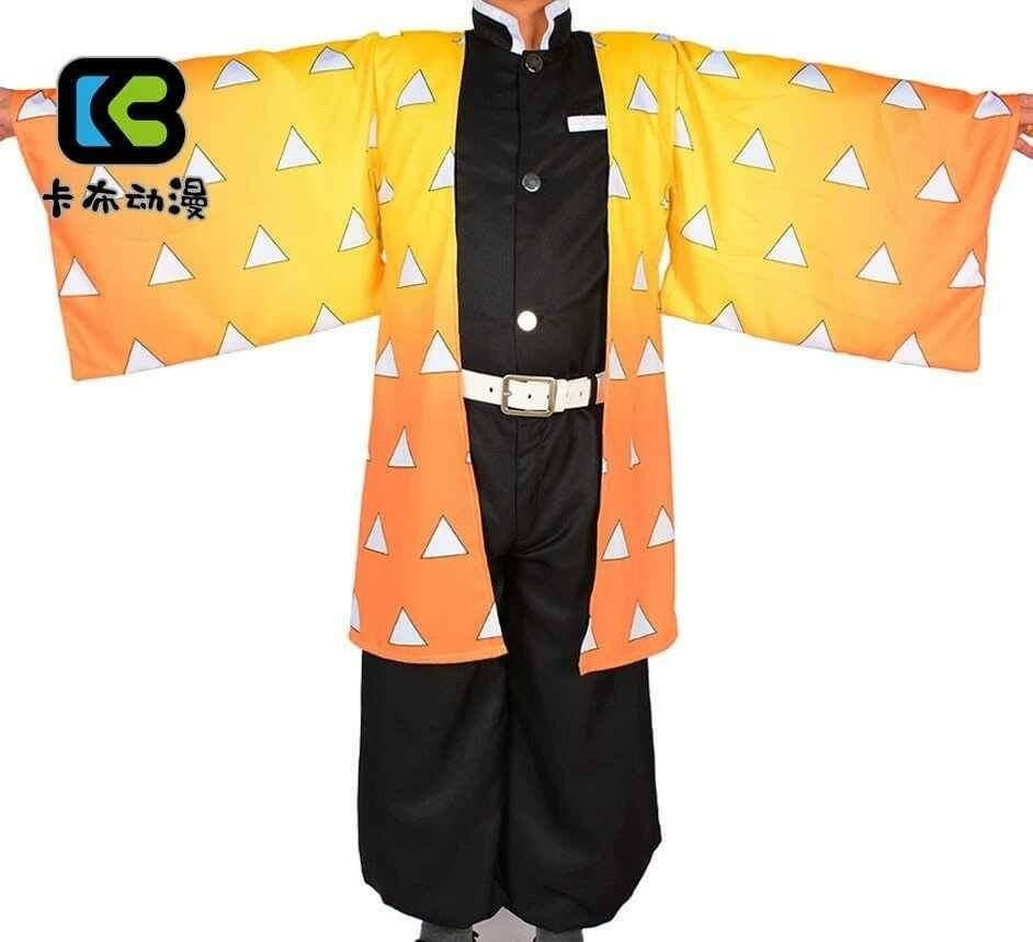 ⚡AGATSUMA ZENITSU COSPLAY SET FROM KIMETSU NO YAIBA ANIME COSPLAY⚡