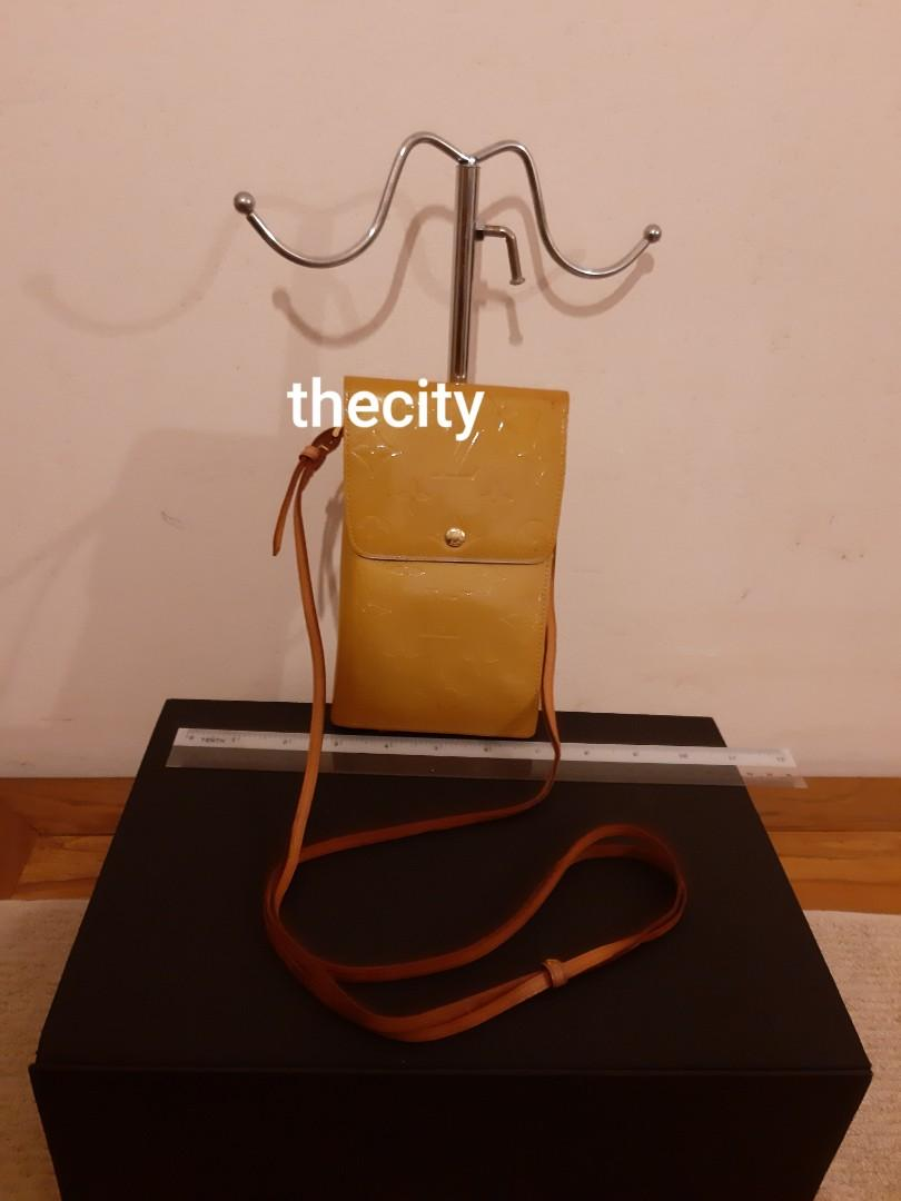AUTHENTIC LOUIS VUITTON MONOGRAM LOGO CANVAS SLING BAG / ORGANIZER WALLET - VERNIS PATENT LEATHER - LOW PRICE,  NOT FOR FUSSY BUYERS - (RETAILS AROUND RM 4000+)