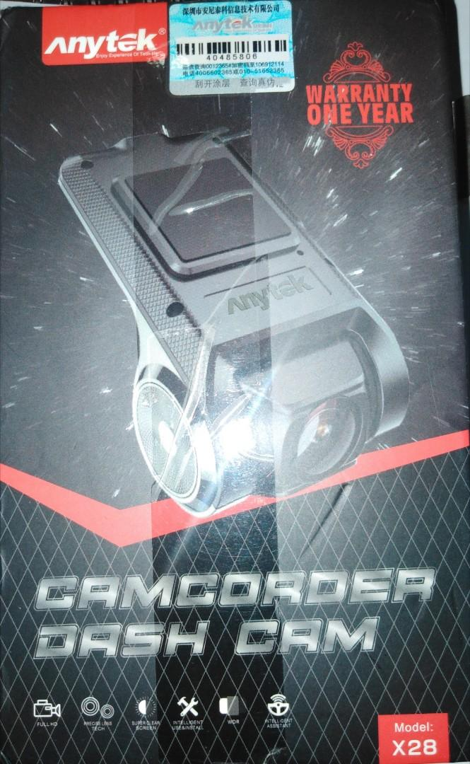 CAMCORDER DASH CAM ANYTEK X28, Auto Accessories on Carousell