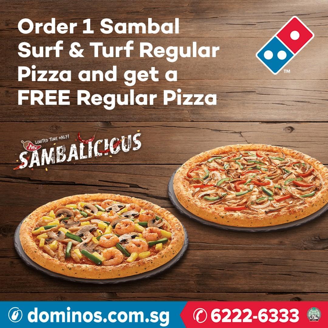 Carousell x Domino's: Order 1 Sambal Surf & Turf Regular