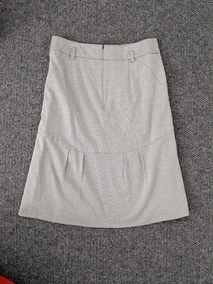 C.D.S classic - Japanese grey fitted work skirt - Asian size S #swapau