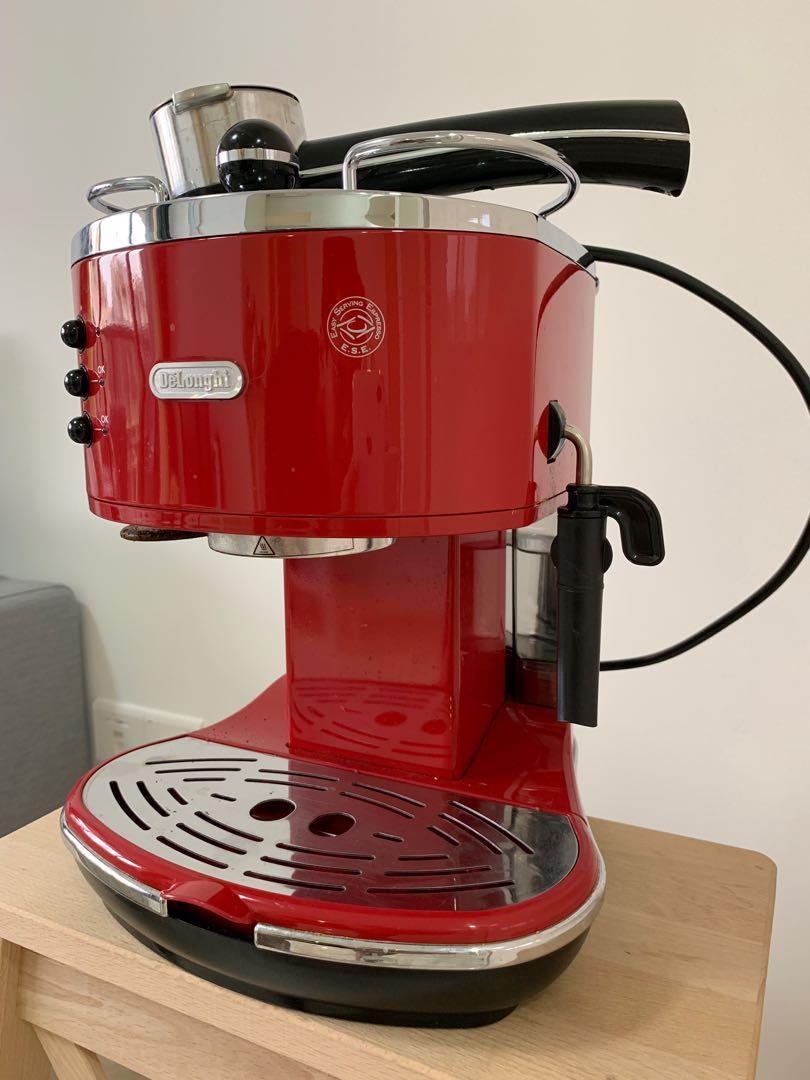 Coffee Machine Delonghi Icona Pump Espresso Red Eco