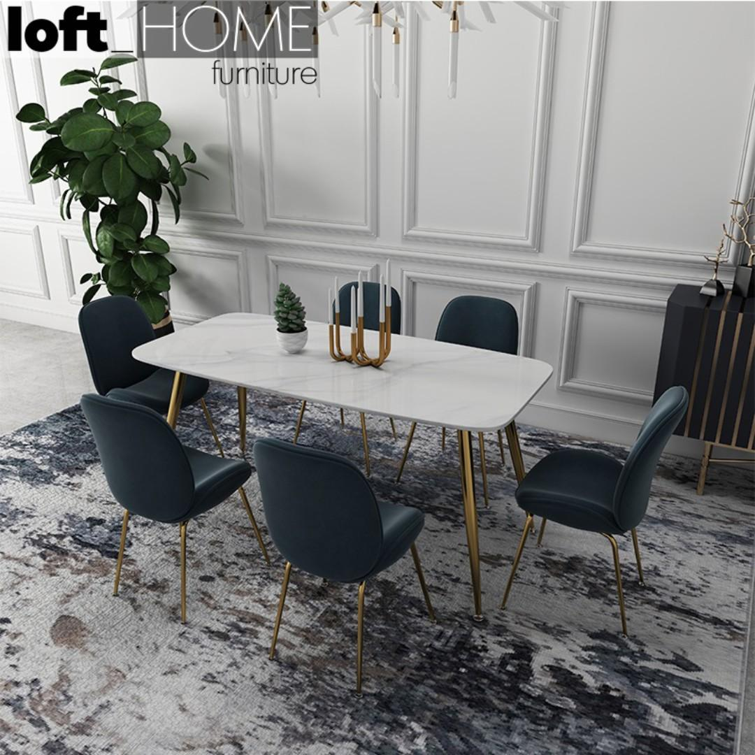 Dining Table – Marble / Stainless Steel #1