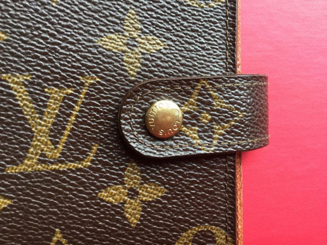 Genuine Louis Vuitton Monogram Canvas Small Ring Agenda Cover