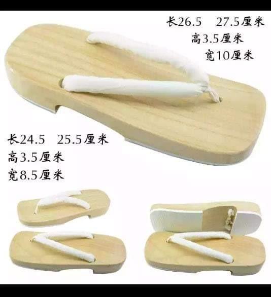 👡GETA FOR TANJIROU/TOMIOKA/ZENITSU KIMETSU NO YAIBA ANIME COSPLAY SHOES JAPANESE SLIPPERS👡