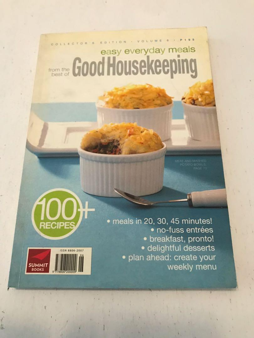 Various Recipe books and Resto Guide: Good Housekeeping, Del Monte, Umami Recipe book and Eat Out Now