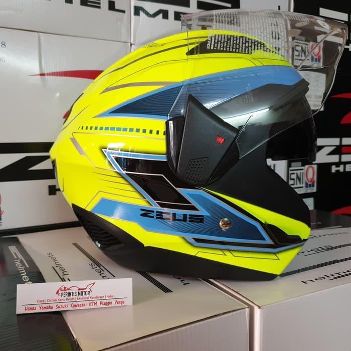 Helmet helm halface zeus 611 yellow blue black