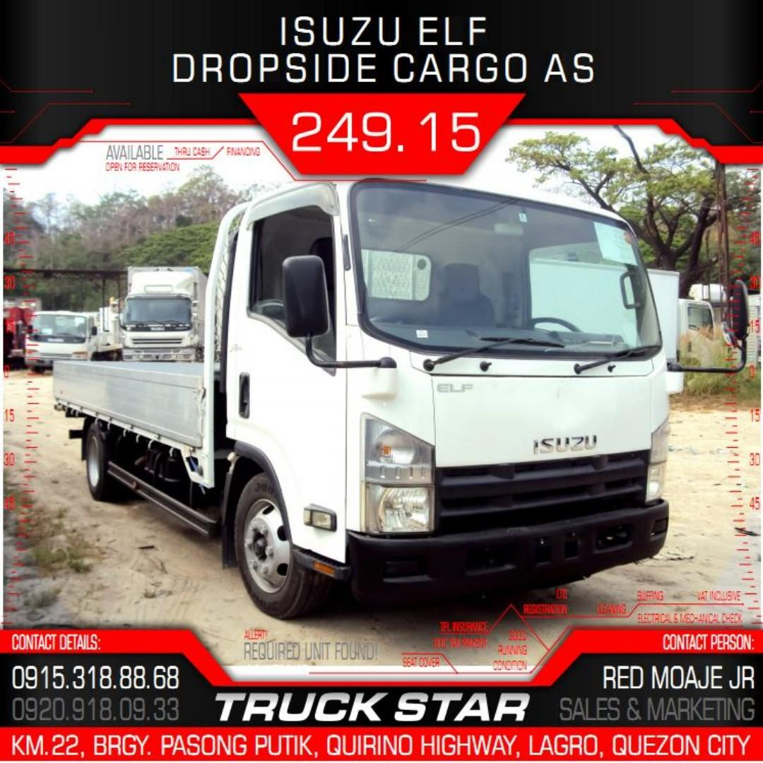 Isuzu Elf Dropside Cargo AS 4JJ1 Engine 16Footer Truck For Sale on