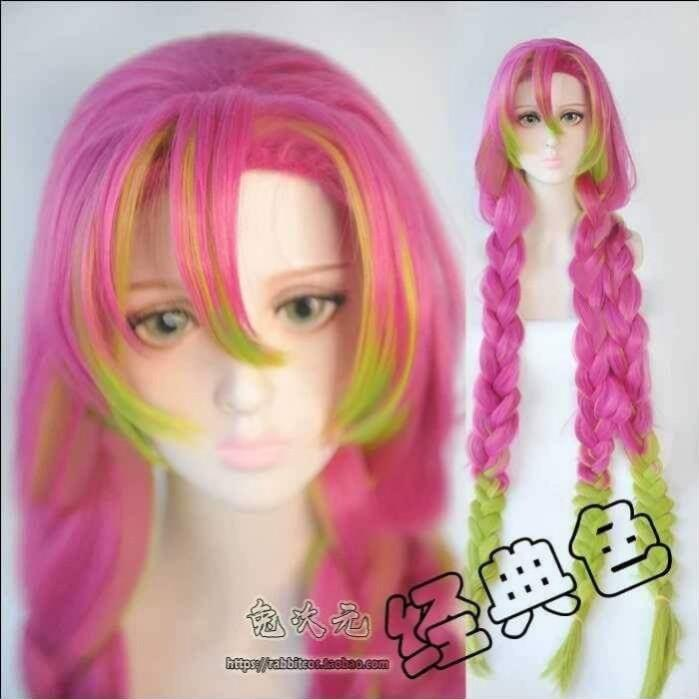 💕KANROJI MITSURI COSPLAY WIG FROM KIMETSU NO YAIBA ANIME COSPLAY WOMEN FASHION💕