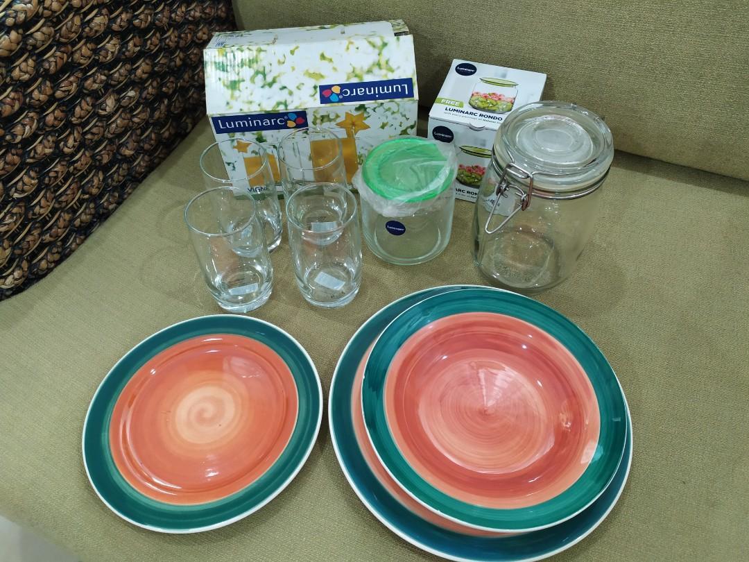 Cheap!Glasses,Plates & Jars #1111