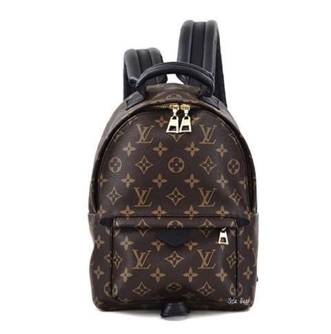 Like new! Louis Vuitton LV Bag Authentic Backpack P Springs Monogram Gold Hardware
