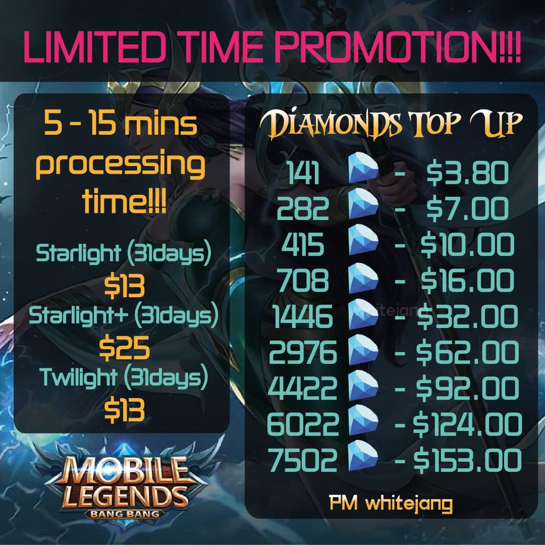 Mobile Legends Diamond Top Up, Toys & Games, Video Gaming