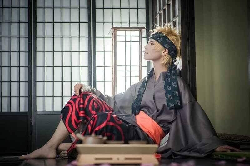 👘NARUTO STYLE CUSTOM MADE YUKATA COSPLAY SET MEN FASHION👘