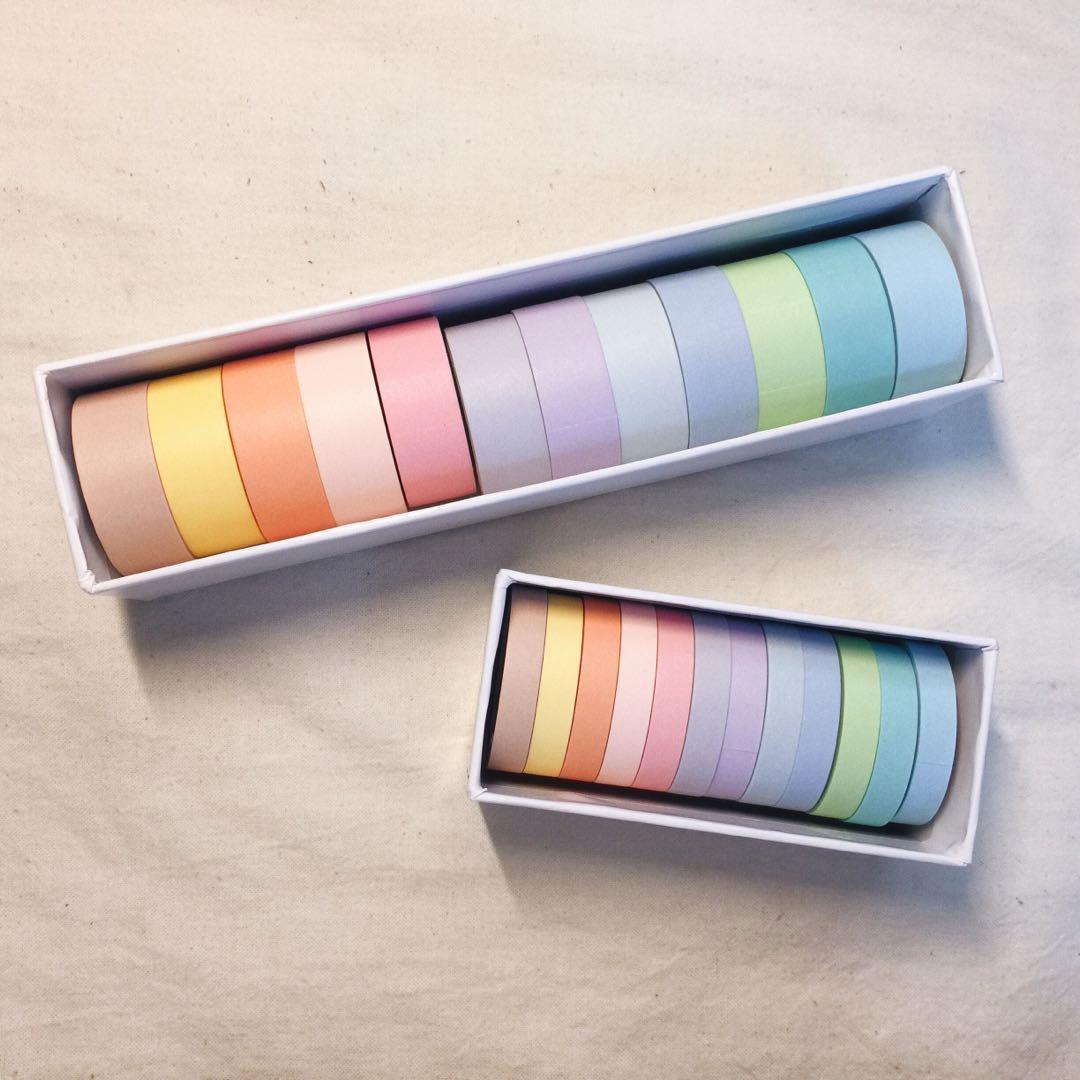 pastel washi tape set