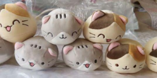 P.O. Japan Imported Set of 4 Pusheen cat Neko stuff toy stuffed toy soft toy