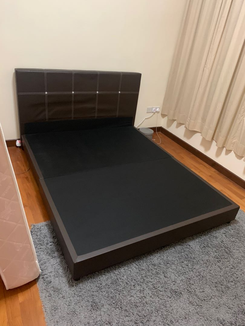 Picture of: Queen Size Bed Frame Sale No Mattress Furniture Beds Mattresses On Carousell