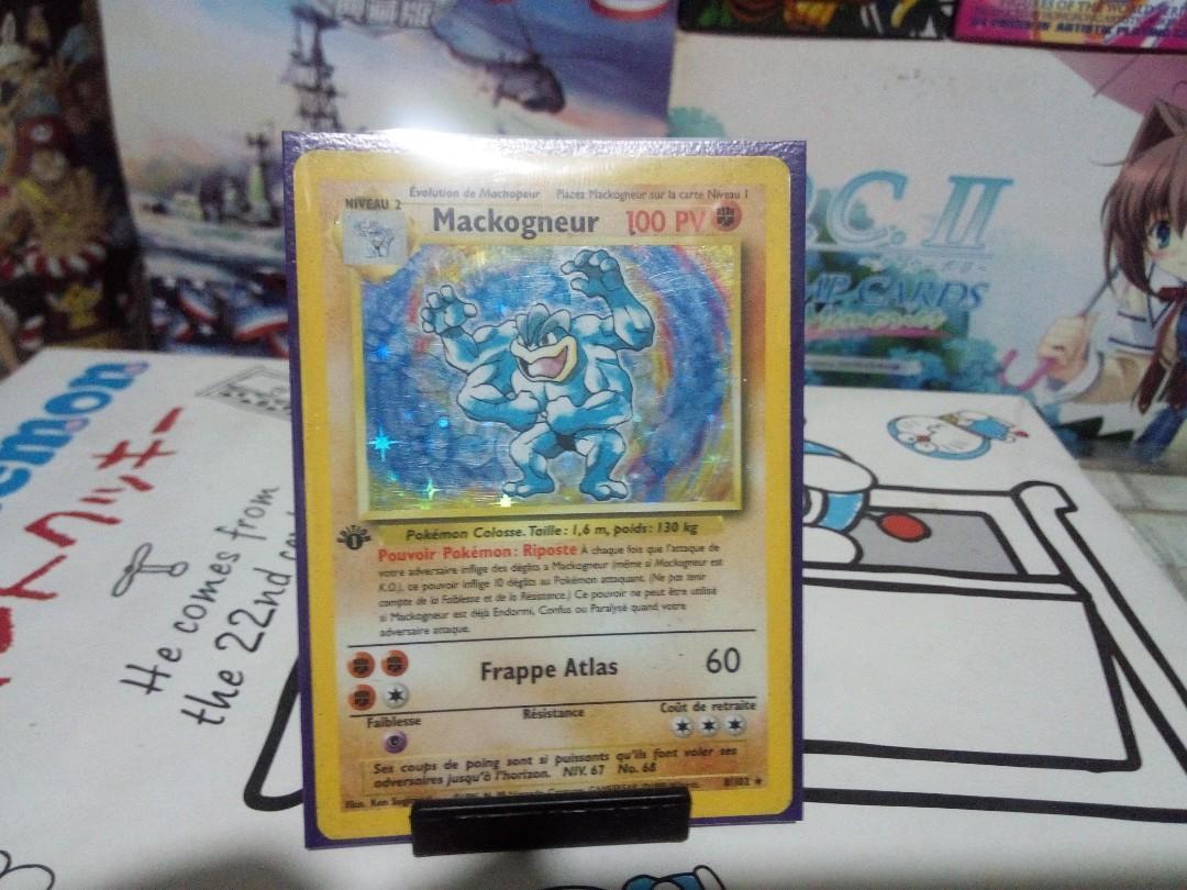 rare pokemon card french machamp 1st ed, Toys & Games