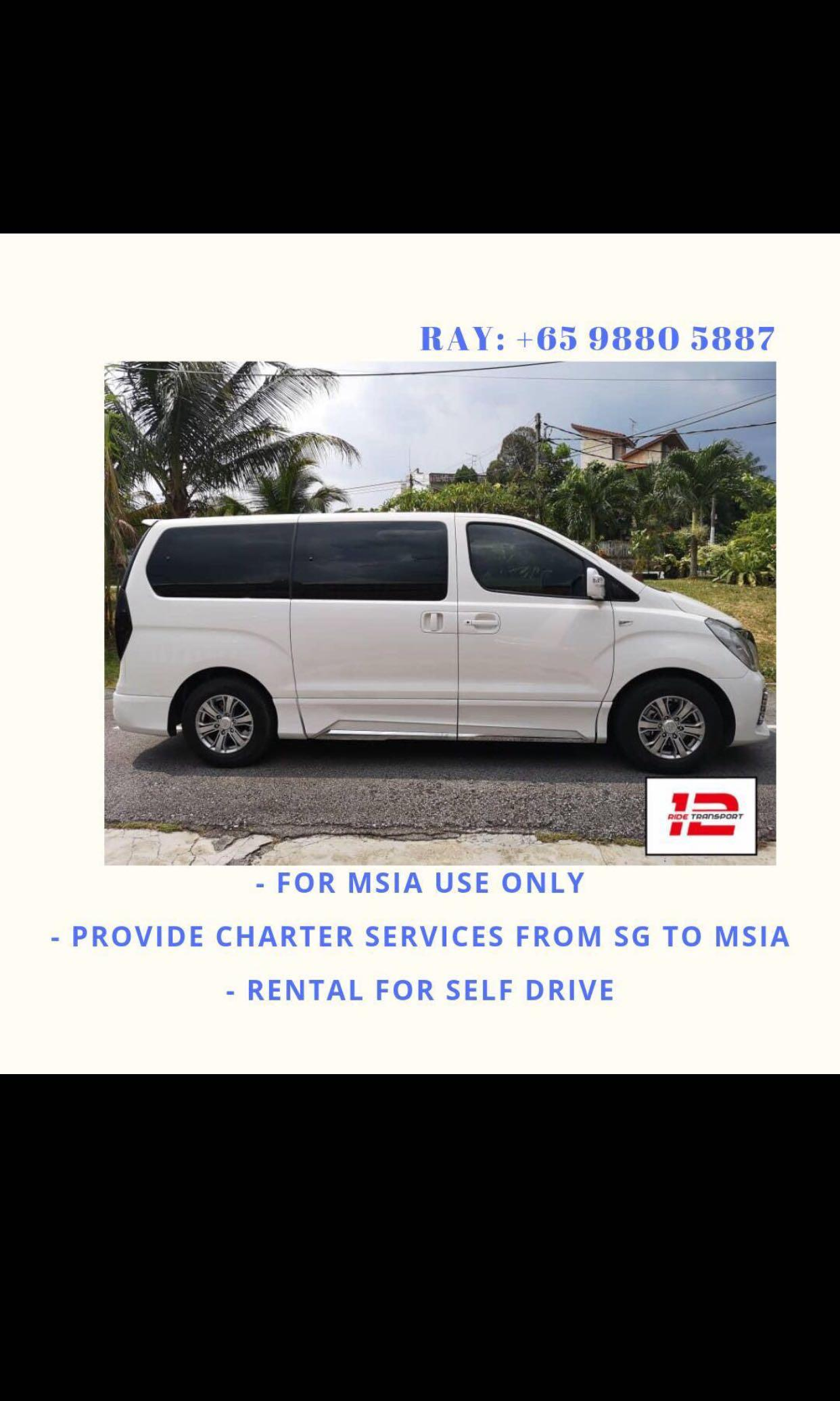 Rental of starex for M'sia usage