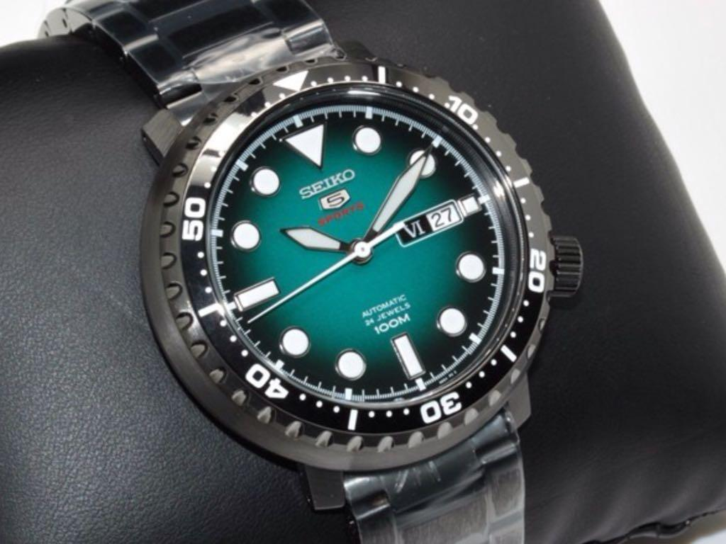 on sale 96d58 52fc6 Seiko 5 Sports SRPC65 Bottle Cap PVD Automatic Steel Watch ...