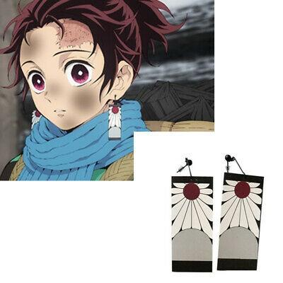 🎴TANJIROU KAMADO EAR CLIPS FROM KIMETSU NO YAIBA ANIME COSPLAY PROP-2 DESIGNS🎴