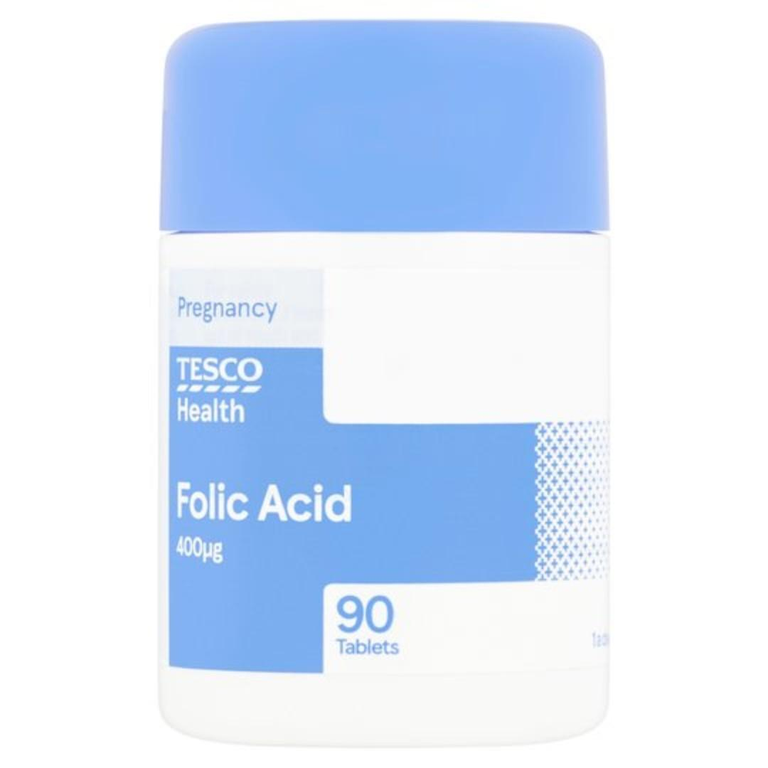 Tesco Folic Acid 400mg X 90 Brand New Sealed On Carousell