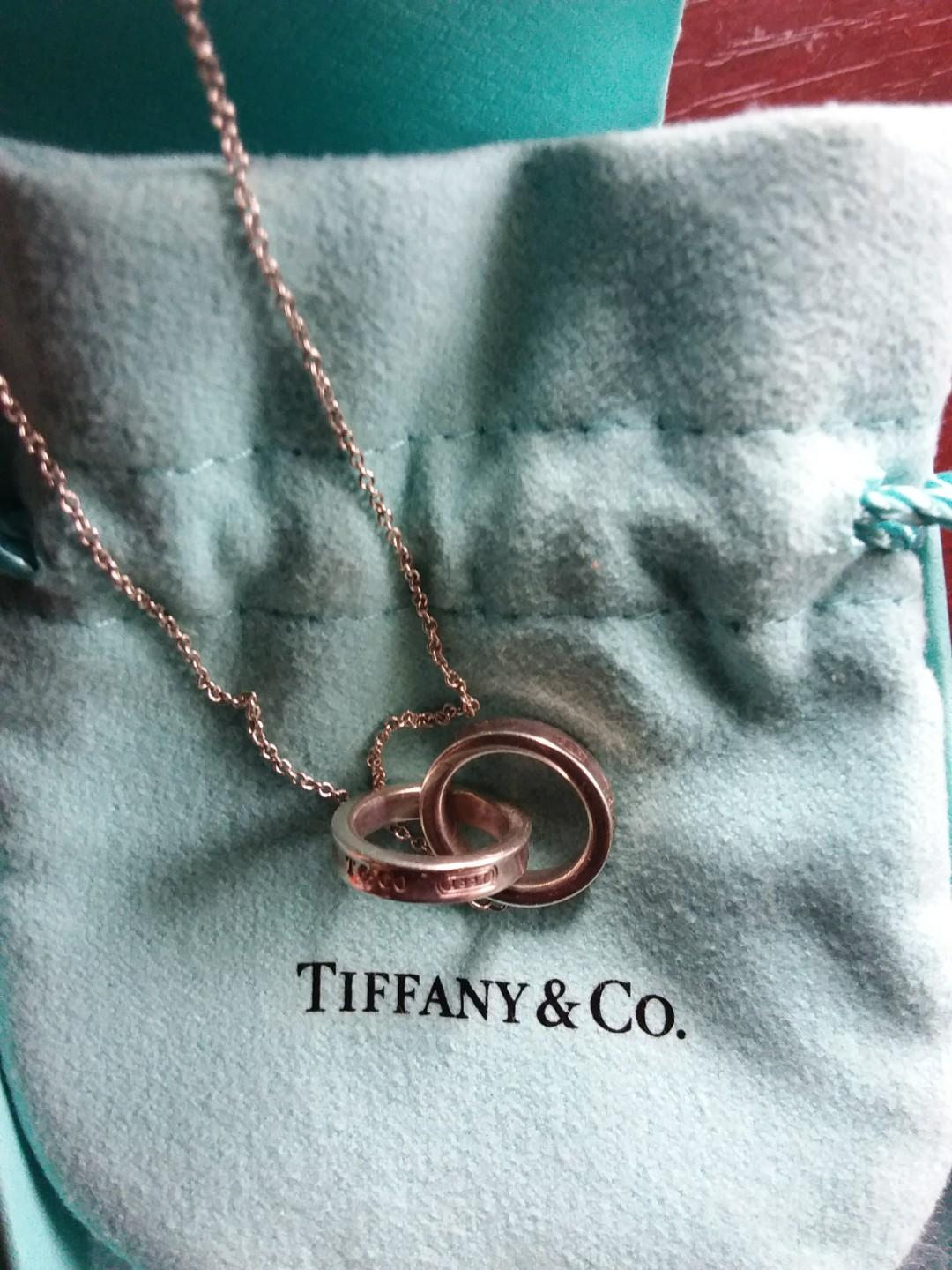 Tiffany & Co. 1837 Interlocking Double Circles Rings necklace