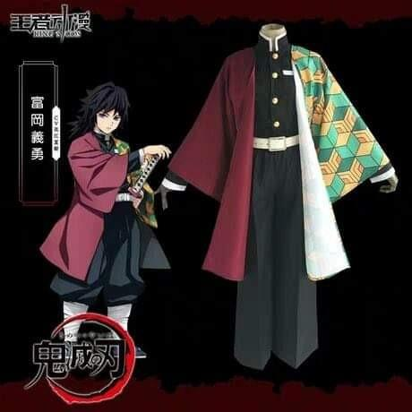 👘TOMIOKA GIYUU COSPLAY SET FROM KIMETSU NO YAIBA ANIME COSPLAY MEN FASHION👘