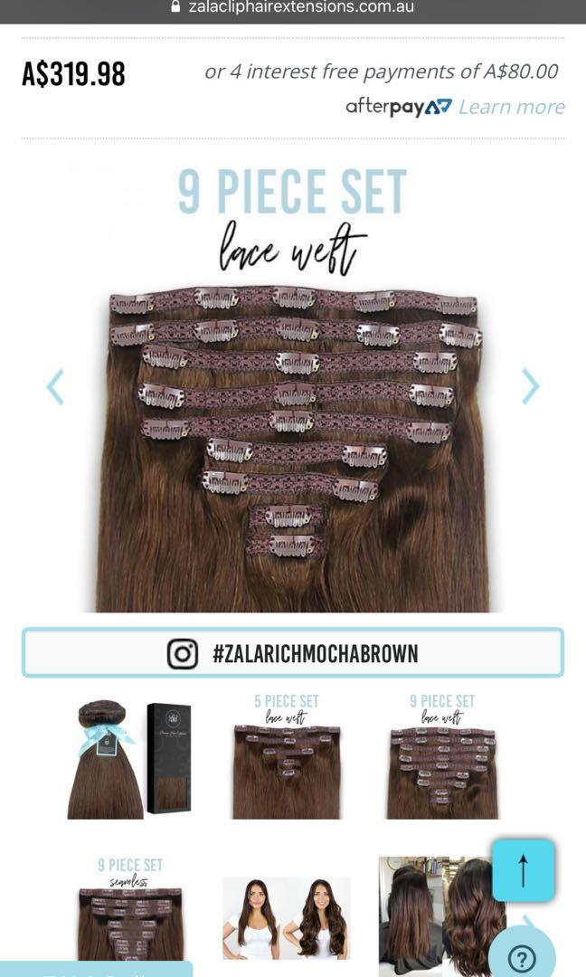 ZALA Hair Extensions 220GR 20 Inch 9 Piece Set Brown