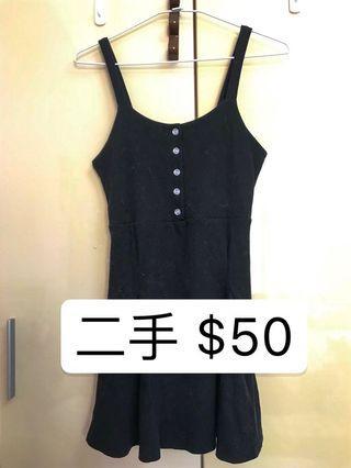 【二手】黑色爆乳小洋裝
