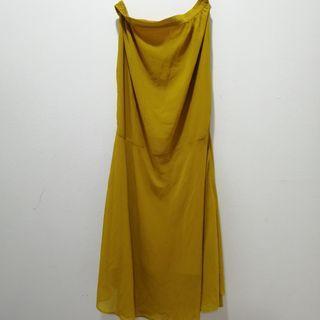 Puteri Mustard Long Skirt L