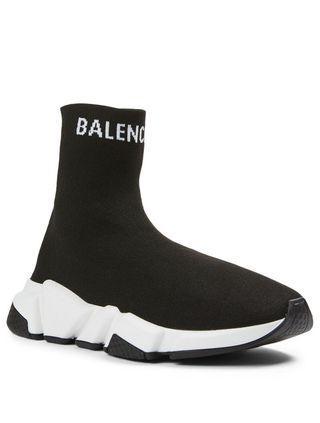 BALENCIAGA Speed Logo High-Top Sock Sneakers