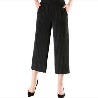 Plus Size Ladies Black Pants Elastic High Waist 2XL