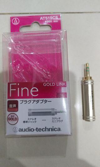 Audio Technica Gold Link 6.35mm to 3.5mm headphone plug converter