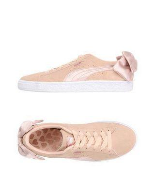 Puma Suede Bow Valentines Trainers In Pink
