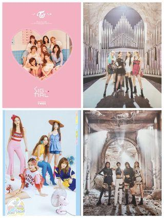 kpop posters (twice, red velvet & blackpink)