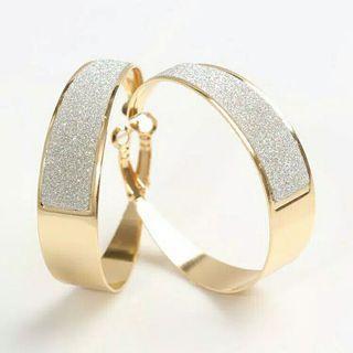💎anting gold dengan silver aksen