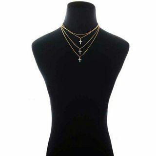 💎Multi Layer Necklace - Kalung Rantai Salib
