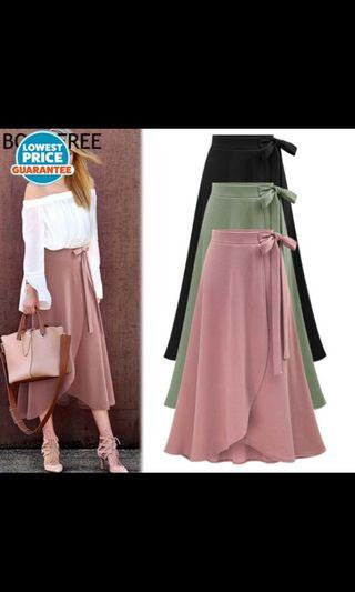 Irregular skirt split skirt in the long strape