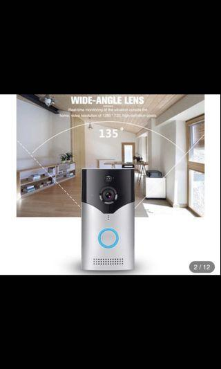 Smart Video Doorbell, WIFI security Camera, Real Time HD monitoring, Two way communication and remote App control (Batteries and Chimes included)
